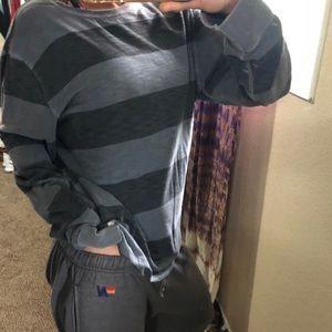 american eagle oversized striped long sleeve shirt